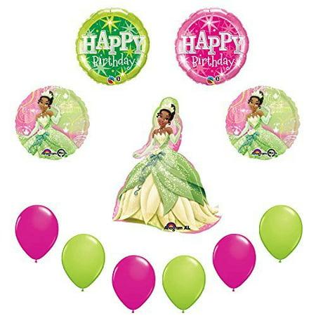 Disney Princess Tiana 11pc Birthday Party Balloon sullies decorations - Disney Princess Party Decor