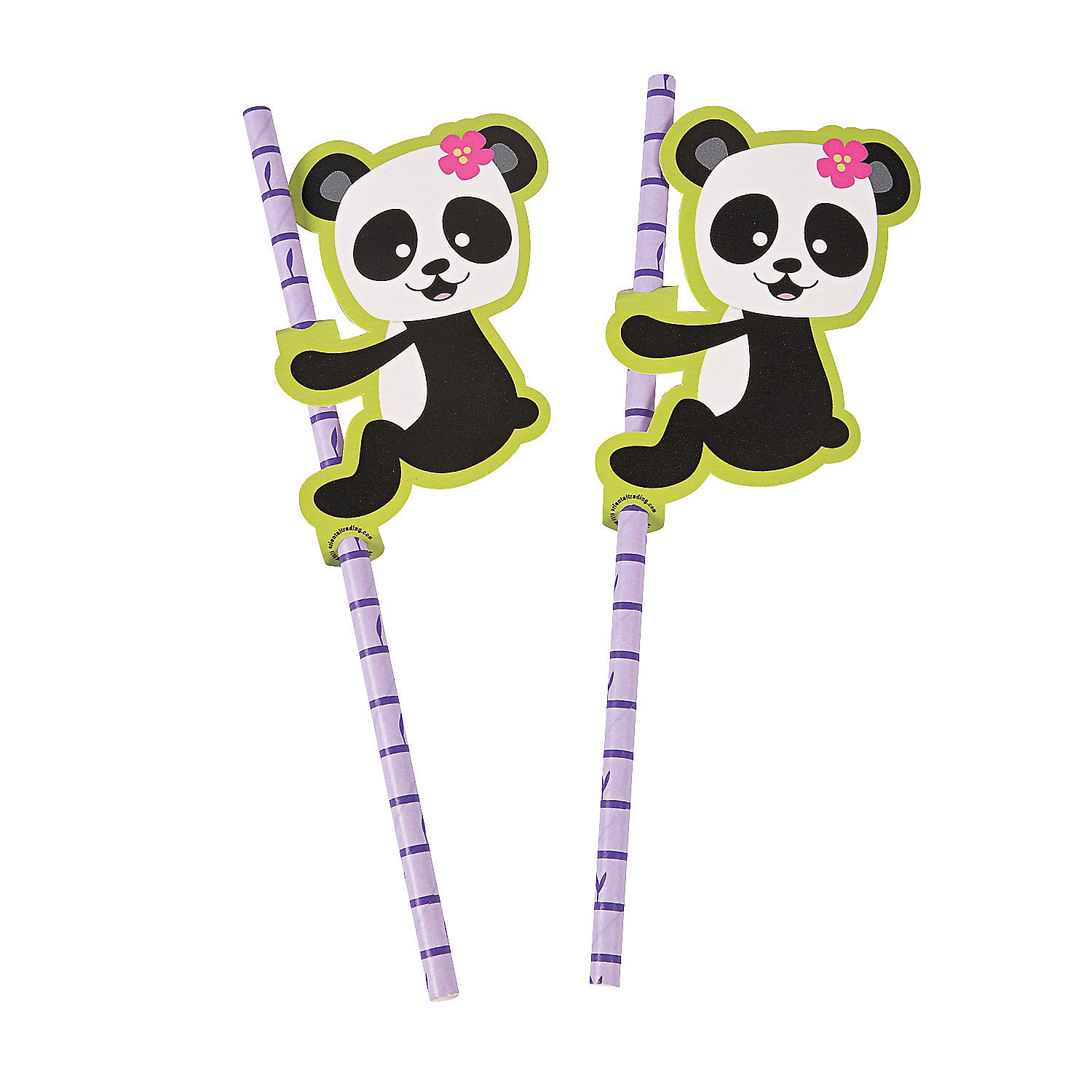 IN-13706106 Panda Party Paper Straws 24 Piece(s)
