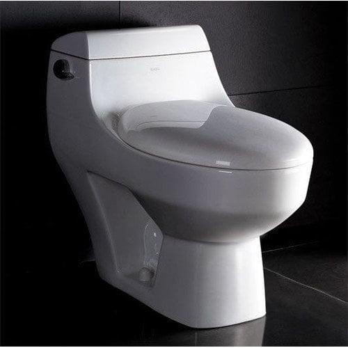 Eago 1.28 GPF Elongated 1 Piece Toilet