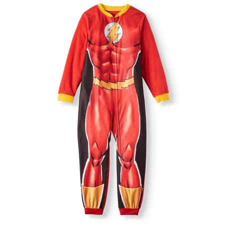 Flash Boys' One Piece Pajama Sleeper (Little Boys & Big Boys) - Superhero Bodysuit