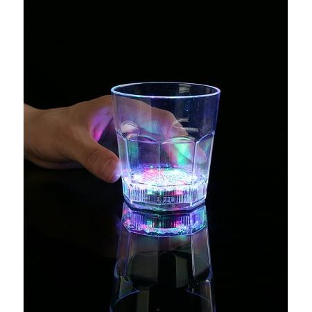 Led Drinkware (LED 8oz Flashing Rocks Glass -)