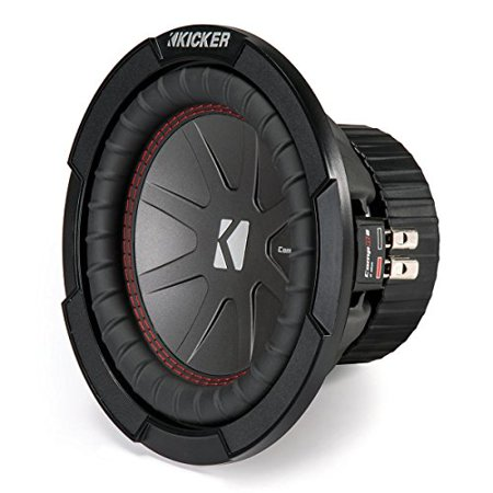 High Performance Dual Voice Coil - Kicker 43CWR84 300 Watt Dual Voice Coil 4 Ohm CompR 8-Inch Subwoofer