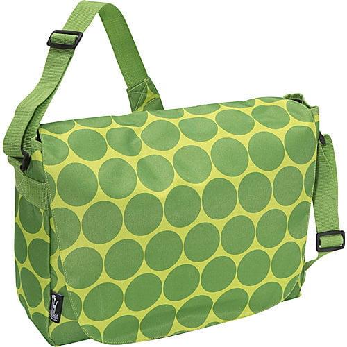 Wildkin Big Dots Green Laptop Messenger Bag