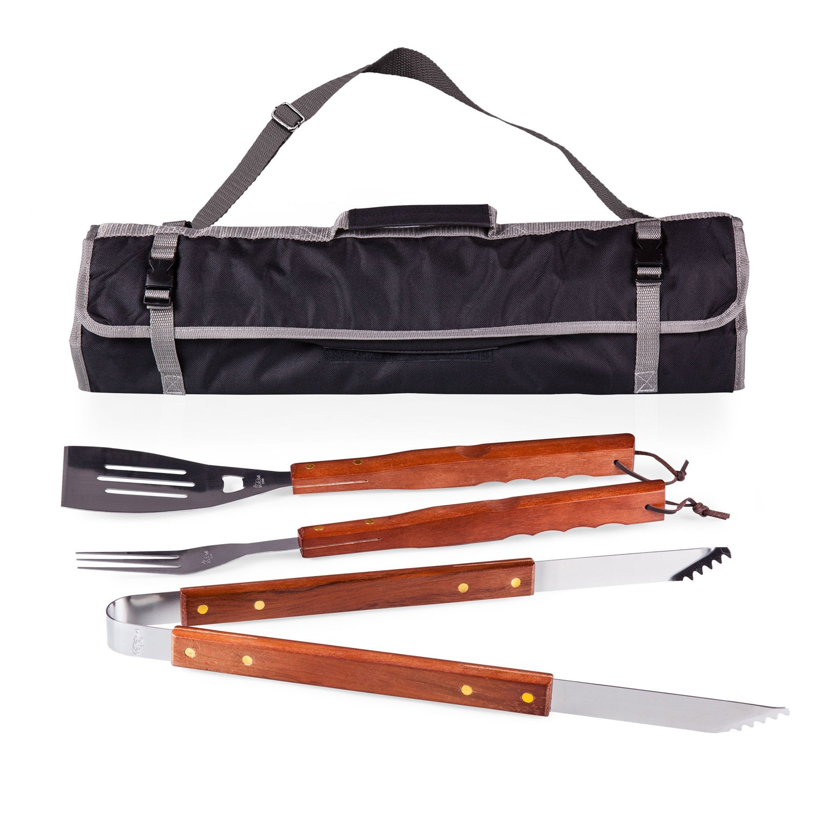 Oniva 3 Piece BBQ Tote and Tool Set