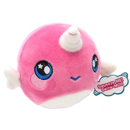 Squeezamals Series 2 Narcissa Narwhal Plush