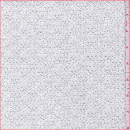 Crochet Lace Fabric (White Lattice Crochet Lace, Fabric By the Yard )