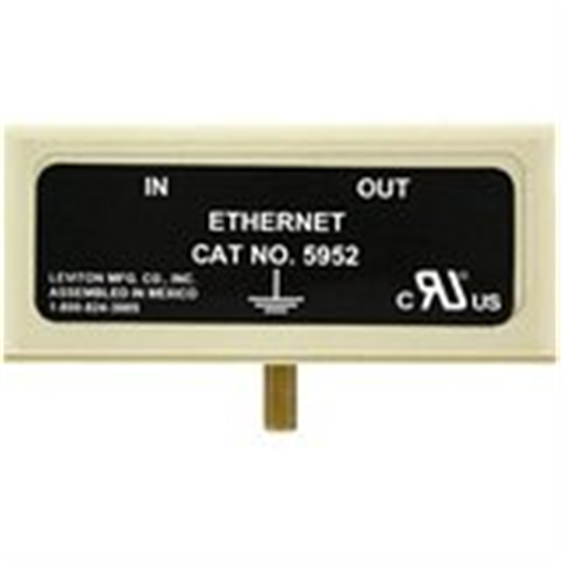 Leviton 5952-ET Ethernet Plug-In Modules, For 5950 Series Plug-In Surge Centers, Beige