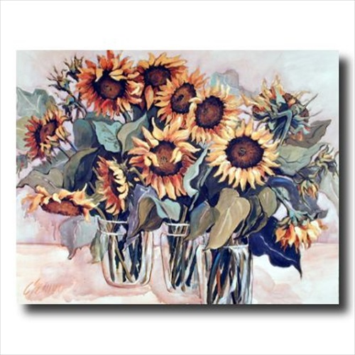 Country Sunflower Floral Wall Picture Art Print