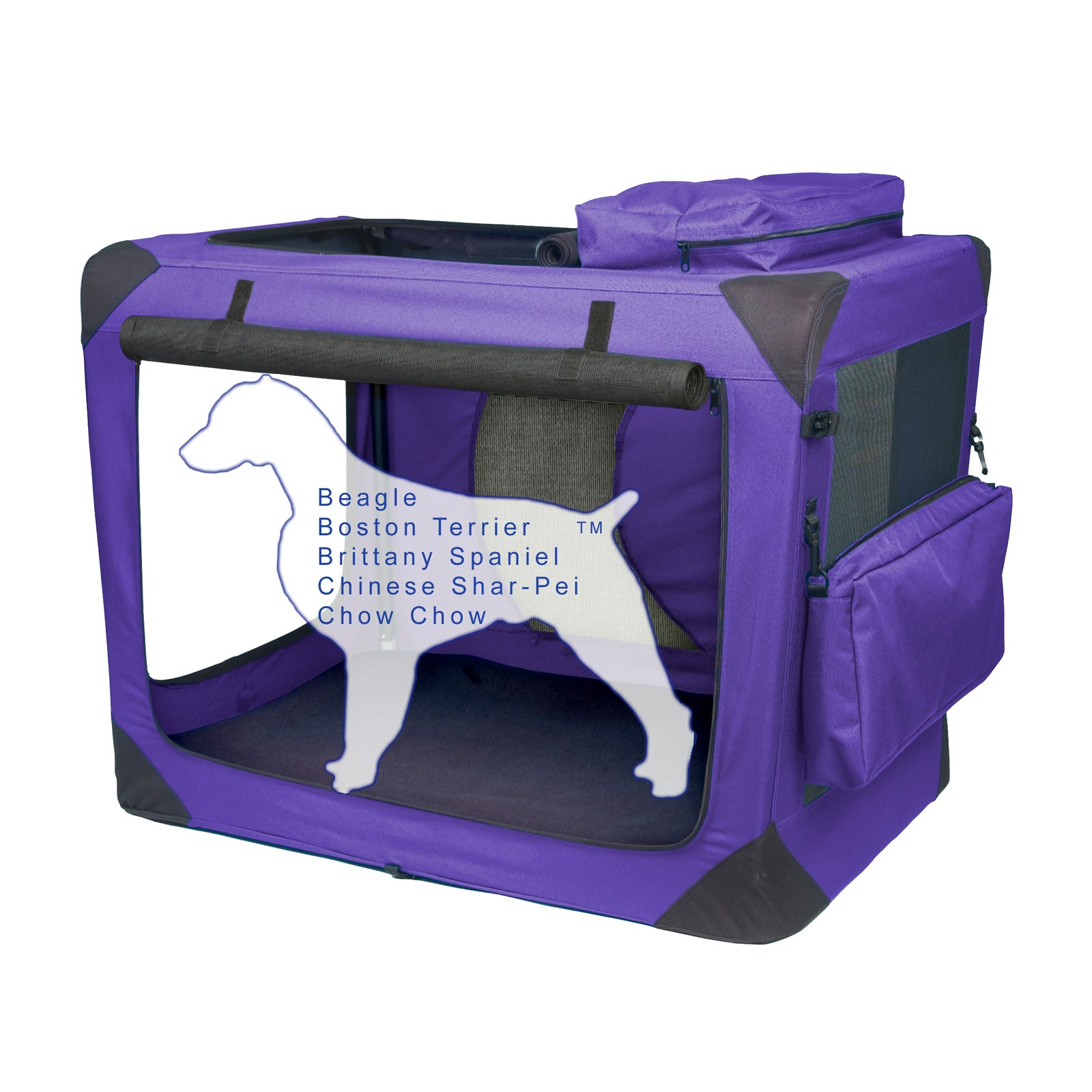 Pet Gear Portable Soft Crate-30 inches-Lavender