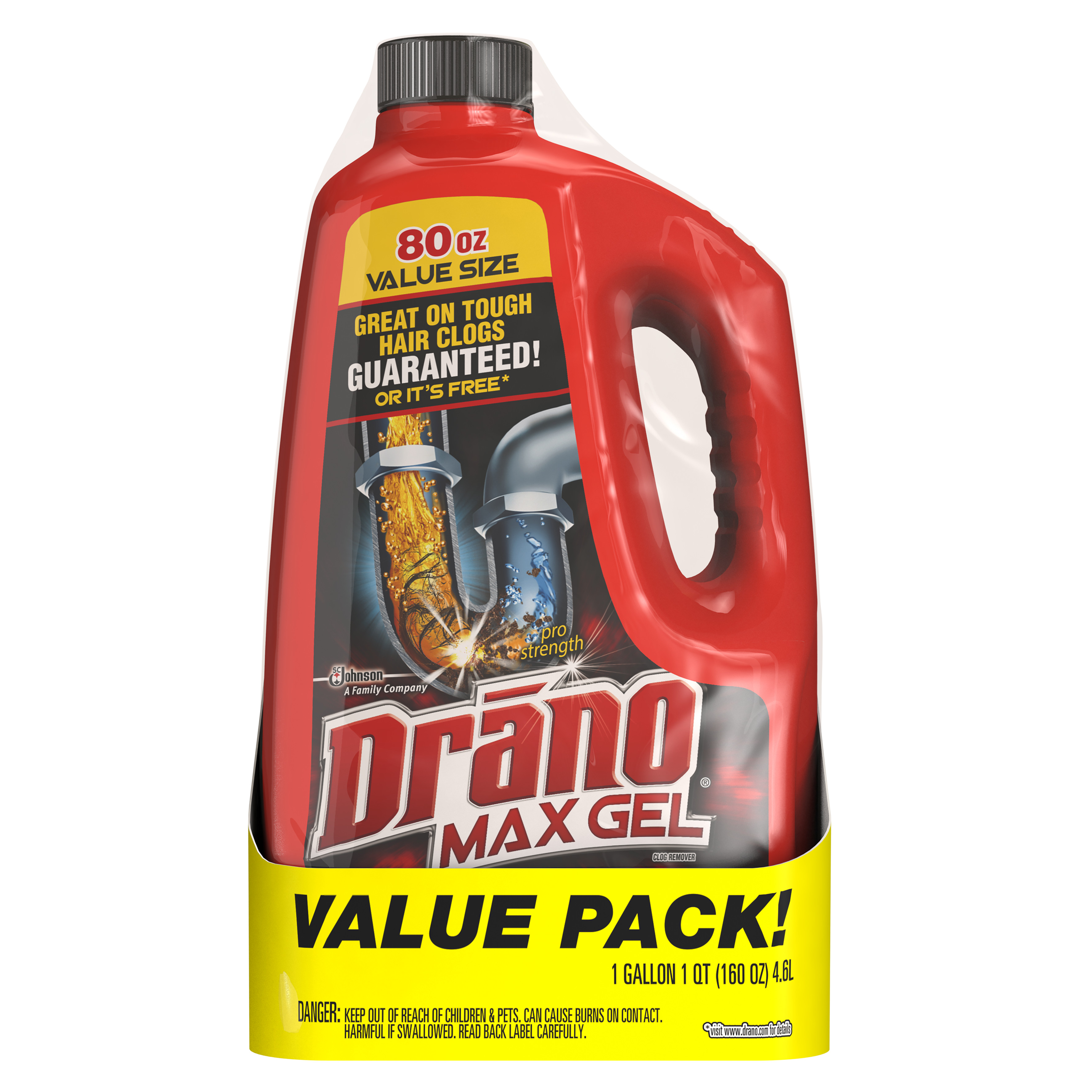 Drano Max Clog Remover Twin Pack 160 Ounces