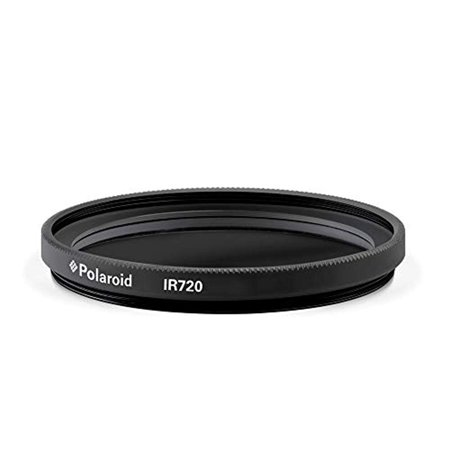 Polaroid Optics 62mm Infrared Filter [X-Ray Effect] – IR720 Removes Most Visible Light Below & Above 720nm Wavelength- Compatible w/ All Popular Camera Lens