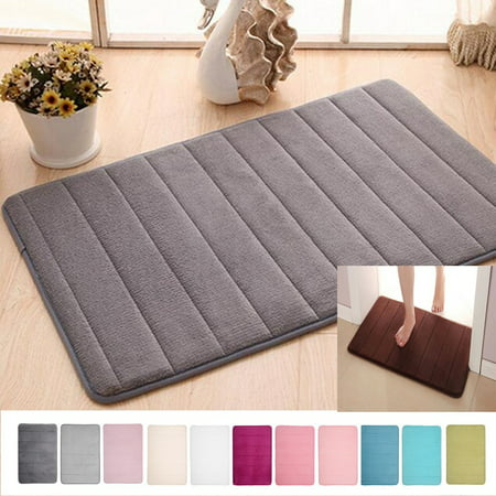 "16""X24"" Soft Memory Foam Mat Bath Bathroom Bedroom Shower Floor Rug Non-slip Doormat 11 Colors"