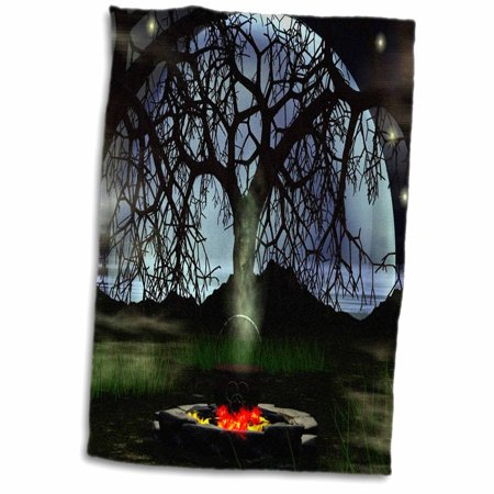 3dRose Halloween Potion Small Cauldron - Towel, 15 by 22-inch - Halloween Potion Ingredients