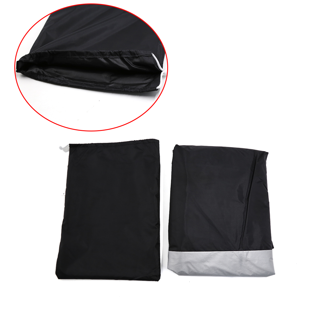 L 180T Rain Dust Motorcycle Cover Silver&Black Outdoor Rainproof UV Protector - image 4 of 7