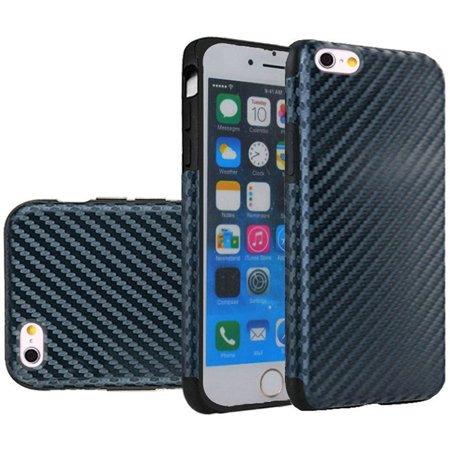 Apple iPhone 6/6s Case, by Insten Carbon Fiber Rubber TPU Candy Skin Case Cover For Apple iPhone 6/6s, Black - image 4 of 4
