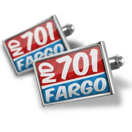 Cufflinks 701 Fargo, ND red/blue - NEONBLOND (Fargo Nd Time Zone)