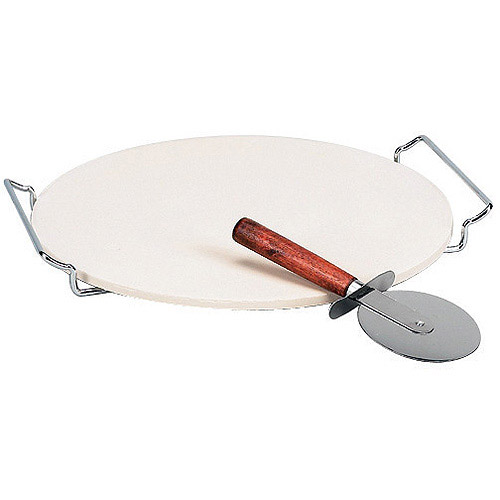 "Italian Origins 12"" Round Pizza Stone with Wire Rack"