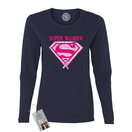 Superwoman Outfit Ideas (Breast Cancer Awareness Superwoman Womens Long Sleeve T)