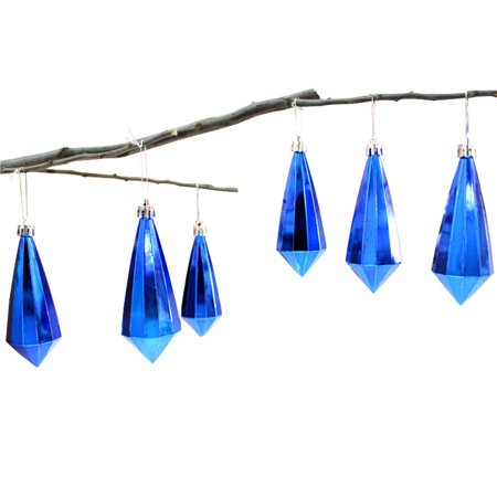 Huppin's Hot Sale 6pcs Christmas Gifts Home Christmas Party Crystal Pendant Hanging Decoration Ornaments Blue ()