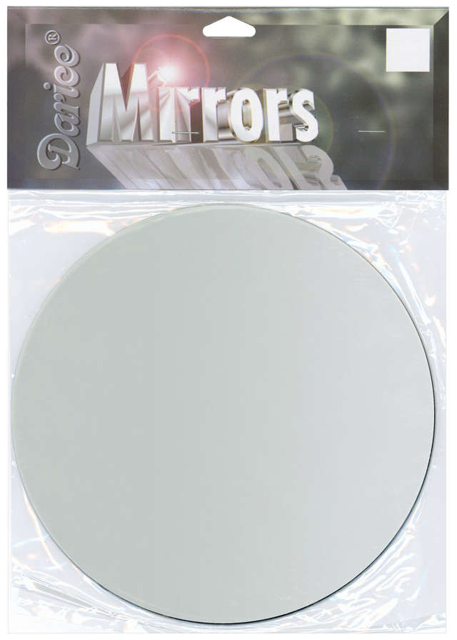 "Round Glass Mirror 7"" 1 Pkg 1633 87"