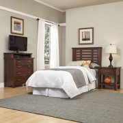 Home Styles Furniture Cabin Creek Twin Headboard, Night Stand and Media Chest