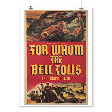 For Whom The Bell Tolls Vintage Poster Usa C  1943  9X12 Art Print  Wall Decor Travel Poster