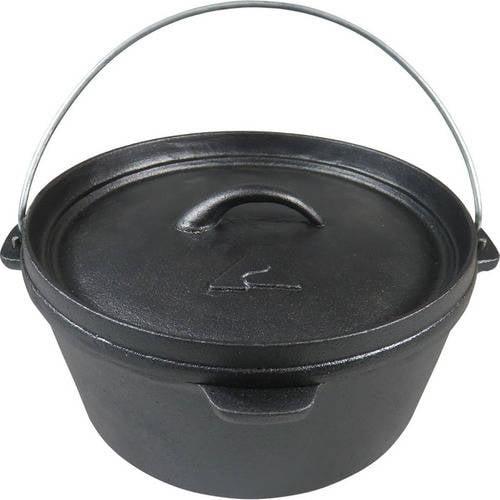 Ozark Trail Plant Oil 4.0-Quart Cast Iron Pot, Pre-Seasoned by