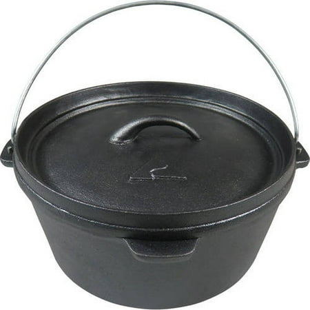 Ozark Trail Plant Oil 4.0-Quart Cast Iron Pot, (Dutch Oven Cooking Equipment)