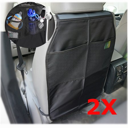2pcs universal car seat back protector child kick guard mat storage