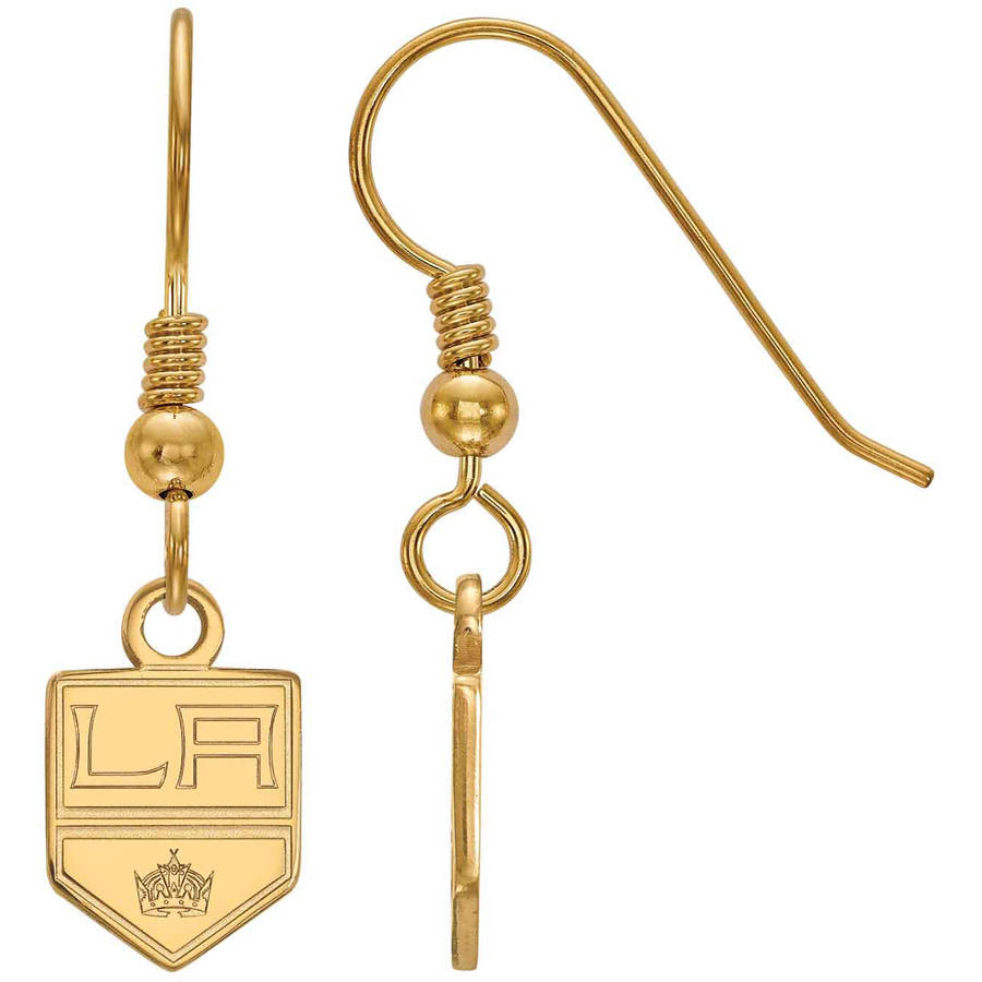 LogoArt NHL Los Angeles Kings 14kt Gold-Plated Sterling Silver Extra Small Dangle Earrings