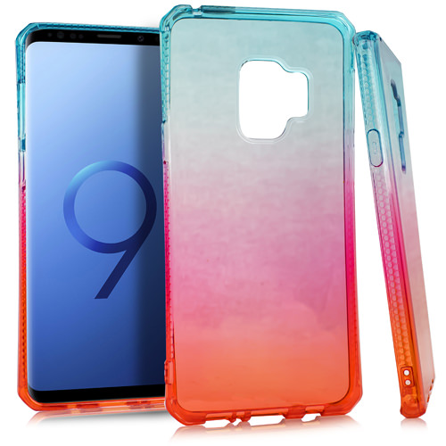 MUNDAZE Red Blue Ombre Deluxe TPU Flexible Case For Samsung Galaxy S9 PLUS Phone
