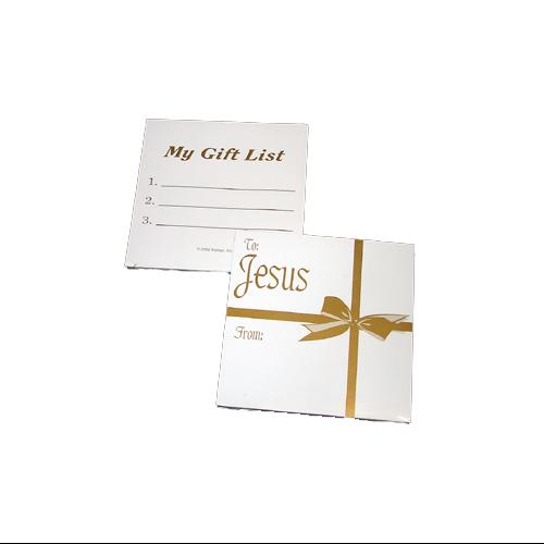 360 Piece Pack of Christmas List To Jesus Religious Gift Tags #92152
