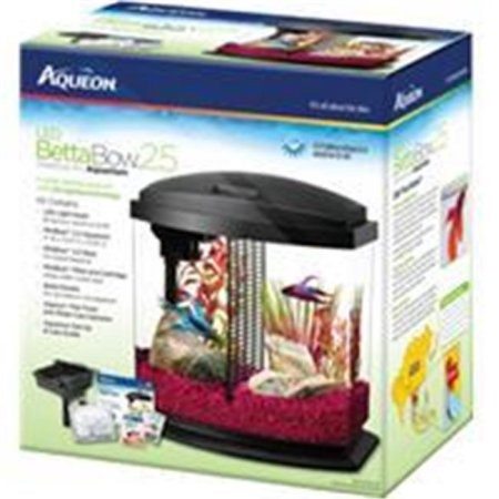 Aqueon BettaBow LED Fish Aquarium Starter Kit, 2.5 Gal