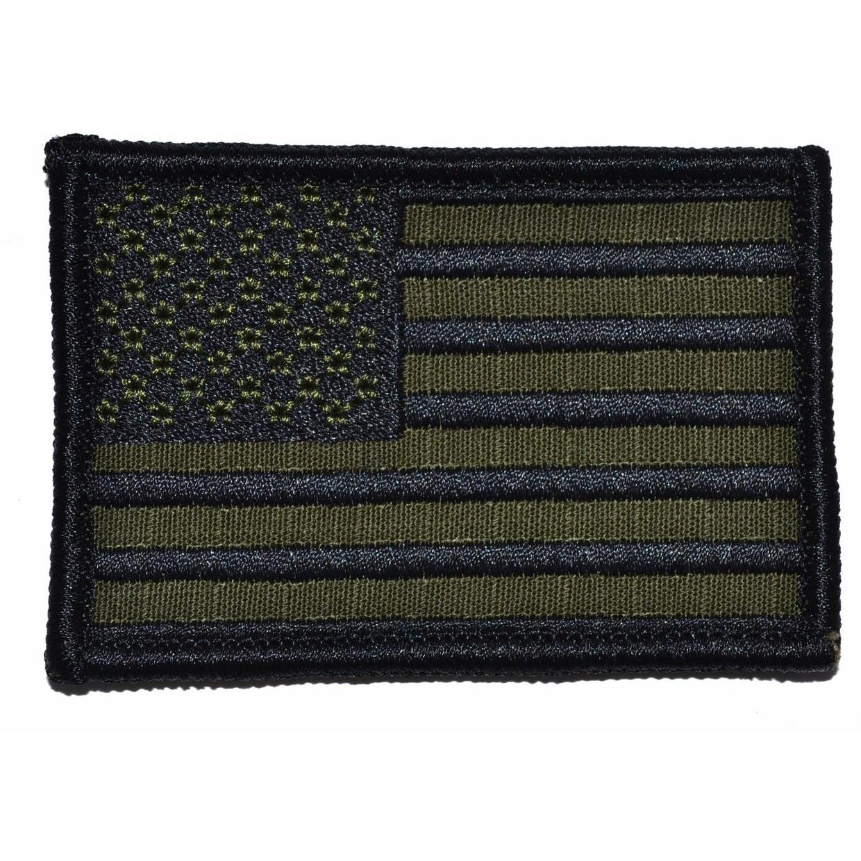 Olive Drab USA Flag - 2x3 Patch