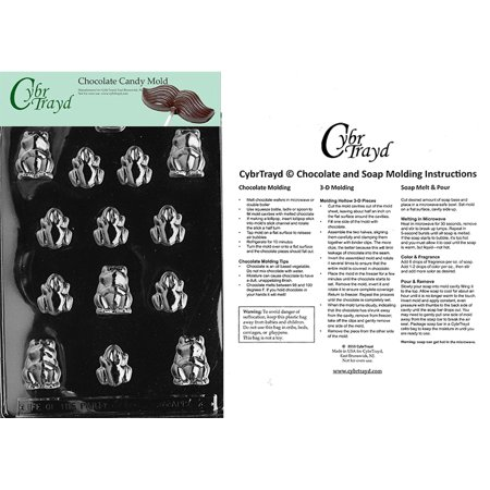 Frogs Chocolate Candy Mold with Exclusive Cybrtrayd Copyrighted Molding Instructions ()
