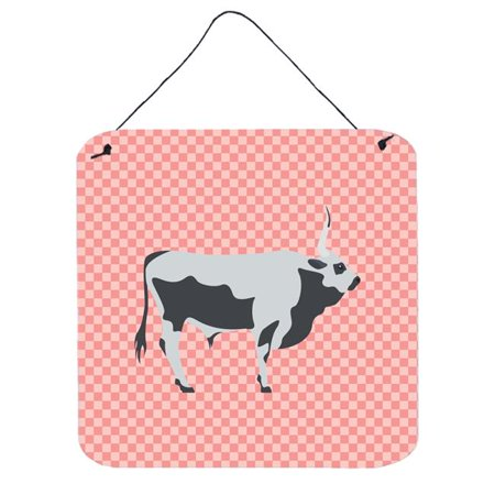 Carolines Treasures BB7650DS66 Hungarian Grey Steppe Cow Green Wall or Door Hanging Prints, 6 x 6 in. - image 1 of 1