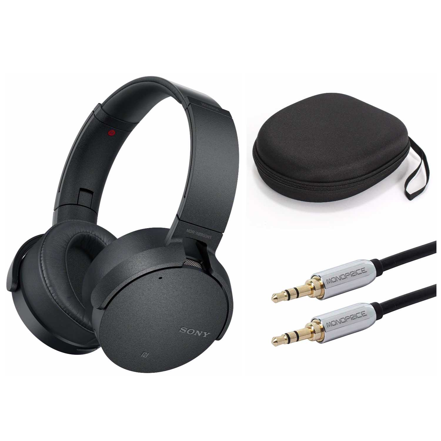 Sony XB950N1 Extra Bass Wireless Noise Canceling Headphones (Black) Bundle