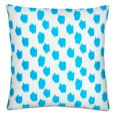 - WestPoint Home Jill Rosenwald Greek Key Turquoise Embroidered Decorative Pillow
