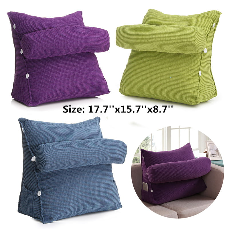 Chair Sofa Adjustable Cushion Pillow Back and Neck Support Pillow for Bed