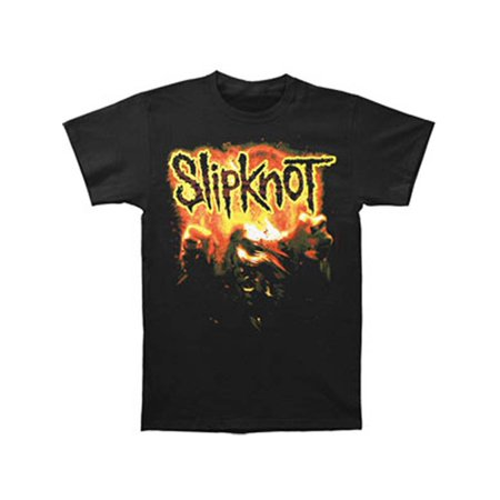 Slipknot Men's  Orange Flames T-shirt Black](Slipknot Suits)