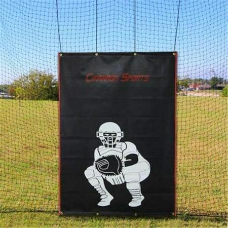 Cimarron Sports CM-4x6CVBS 4 x 6 in. Vinyl Backstop with Catcher Image - image 1 de 3