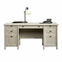 Sauder Costa Executive Desk, Chalked Chestnut Finish