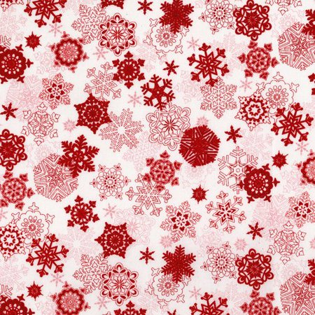 (Merry Berry Bright~Red Snowflakes Christmas Cotton Fabric by RJR Fabrics)