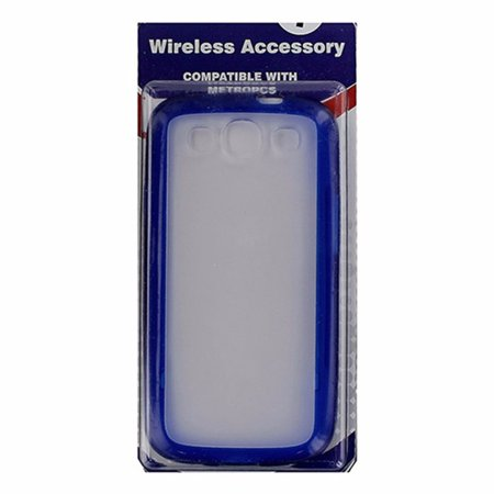 Metropcs Hybrid Shell Case For Samsung Galaxy S3   Frost   Blue