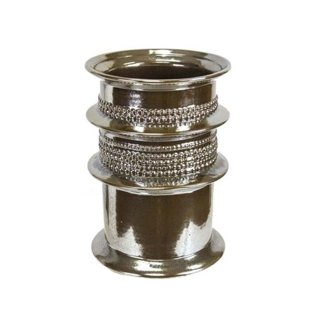 Benzara BM162312 12.25 x 8.75 x 8.75 in. Classic Decorative Patterned Vase, Gold - image 1 de 1