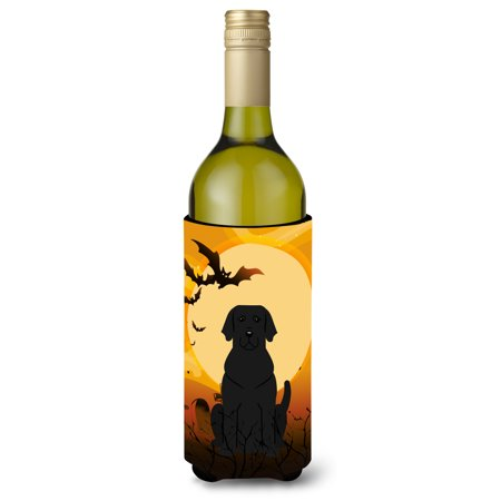 Halloween Black Labrador Wine Bottle Beverge Insulator Hugger BB4323LITERK
