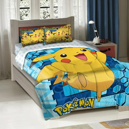 Pokemon Big Pikachu Twin Full Bedding Comforter Set