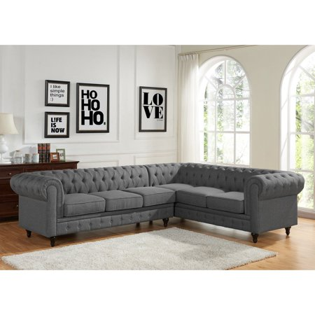 US Pride Furniture Shonda 2 Piece Sectional Sofa with Chaise Lounger