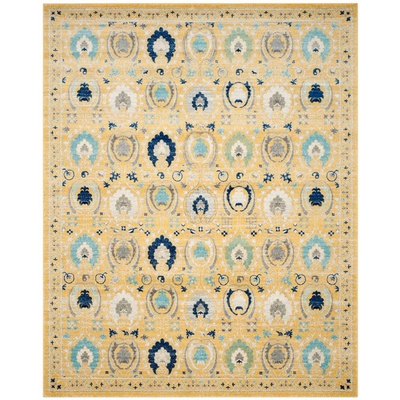 "Safavieh Evoke 6'7"" X 9' Power Loomed Rug in Gold and Ivory - image 4 de 7"