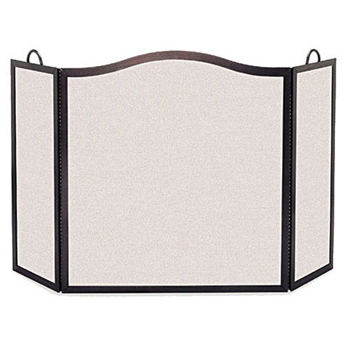 Pilgrim Hearth Camelback Arch 3 Panel Steel Fireplace Screen